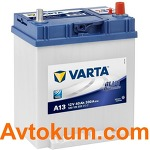 Аккумулятор Varta Blue Dynamic   40 R+  A13 540 125 033