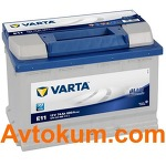 Аккумулятор Varta Blue Dynamic  74 R+ E11 574012068
